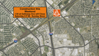 Construction in Mesquite is likely going to cause delays this weekend.
