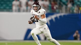 Kellen Mond #11 of the Texas A&M Aggies runs with the ball against the North Carolina Tar Heels in the second quarter of the Capital One Orange Bowl at Hard Rock Stadium on Jan. 2, 2021 in Miami Gardens, Florida.