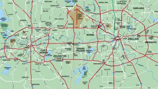 Map of Fort Worth