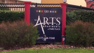 arts apartments sign