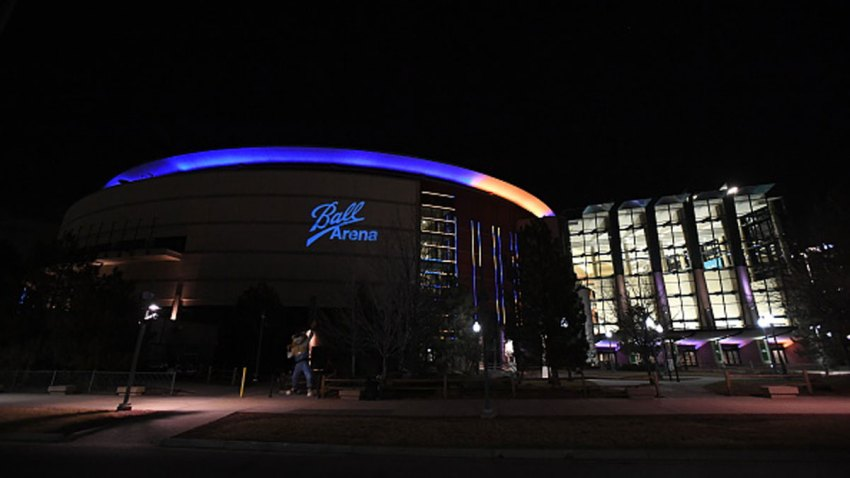 Exterior views of Ball Arena before the game between the Dallas Mavericks and the Denver Nuggets on Jan. 7, 2021 at the Ball Arena in Denver, Colorado.