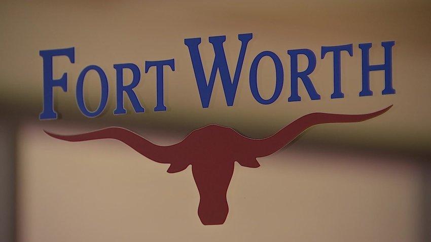 fort worth logo on glass