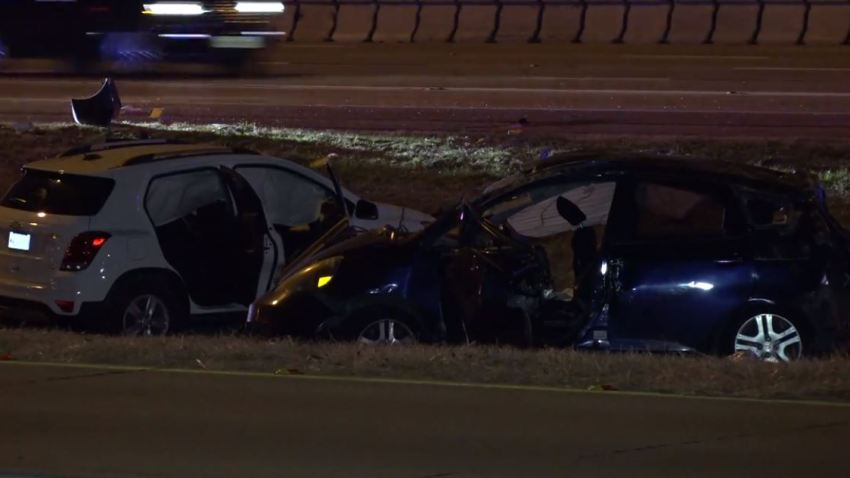 Sheriff's deputies were called about 2:10 a.m. to the 8600 block of East I-30, near St. Francis Avenue, where a 2008 Honda Fit and 2019 Chevrolet Trax were in the grassy median.