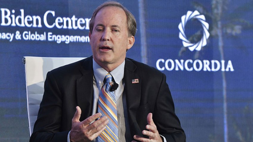Ken Paxton, Attorney General State of Texas attends the forum 'Partnerships to Eradicate Human Trafficking in the Americas' at the 2019 Concordia Americas Summit on May 14, 2019 in Bogota, Colombia.