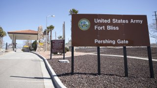 An entrance to Fort Bliss in Texas.
