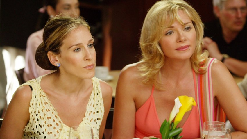 "Sarah Jessica Parker and Kim Cattrall in a scene from ""Sex and the City."""
