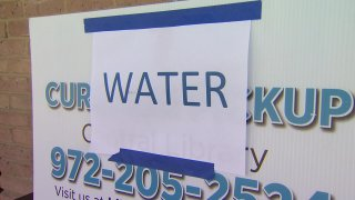 As North Texas begins to thaw out, many families who were left in the dark, are now dealing with another issue — finding safe water.