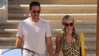 Paris Hilton and her boyfriend Carter Reum