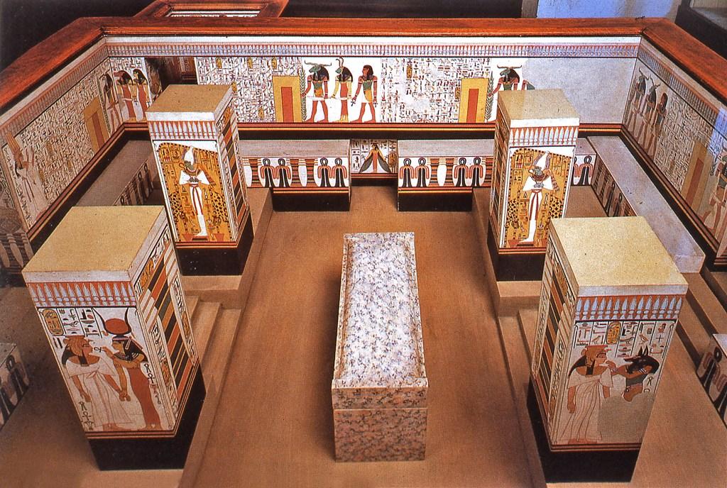 Model of Nerfertari's Tomb Kimbell Art Museum