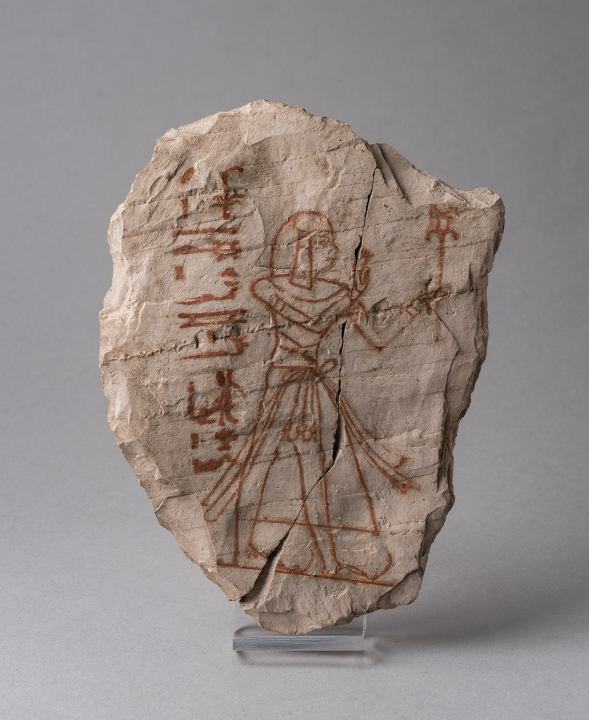 Ostracon depicting prince Kimbell Art Museum