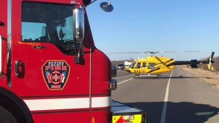 air ambulance, fire truck