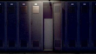 gym locker room lockers generic
