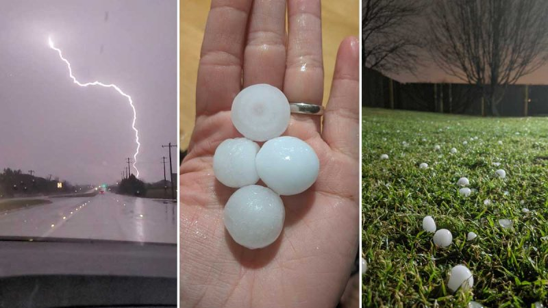 Your Pictures of Large Hail From Overnight Storms on Feb. 25, 2021