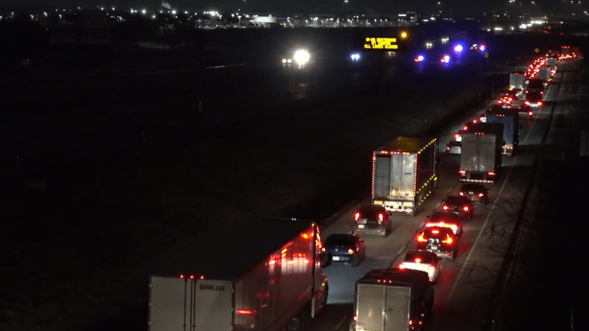 At about 10:06 p.m., the driver left the roadway in the 800 block of East Interstate 20 and hit the inside barrier. The impact caused the pickup to overturn, police said.