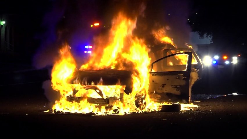 Firefighters in Leon Valley, Texas say propane tanks inside a car led to several loud explosions when the car caught on fire Wednesday morning.