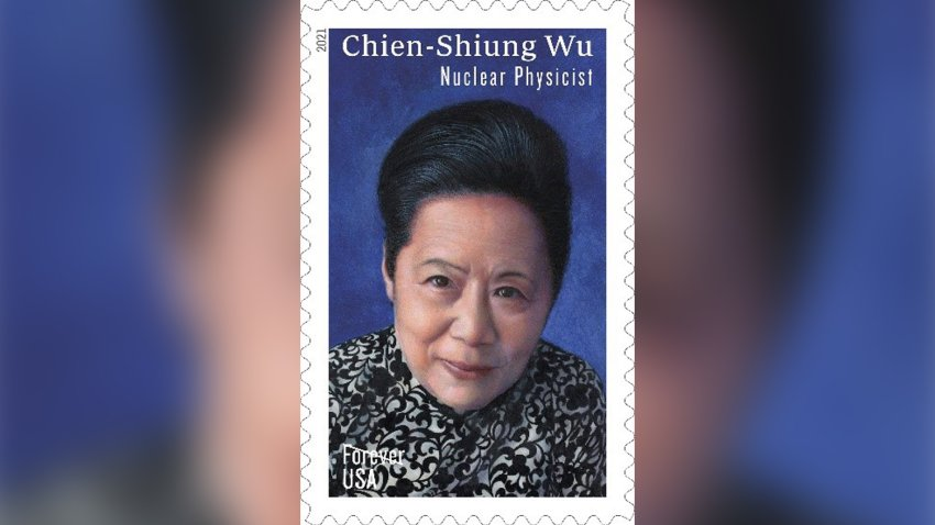 The new stamp featuring Chien-Shiung Wu.