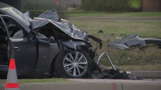 Two people have died and three people were hospitalized in a multi-vehicle crash Saturday in Frisco, police say. The three-vehicle accident happened around 1:30 p.m. at FM423 and Del Webb Boulevard, police said.