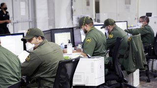 Picture of CBP agents working