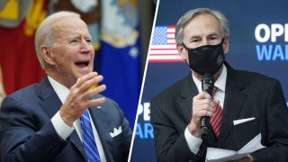 Picture of President Joe Biden and Texas Governor Greg Abbott