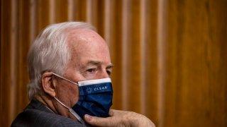 John Cornysh in a mask.