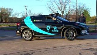 Picture of a autonomous RAPID vehicle
