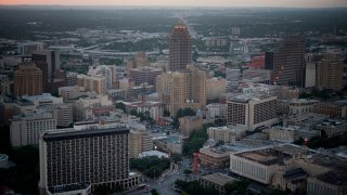 Buildings stand in the skyline of downtown San Antonio, Texas, U.S., on Thursday, June 5, 2014.