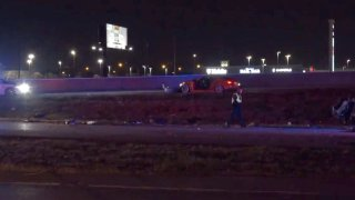 A woman has died and her four passengers were injured early Sunday after officials say a 16-year-old boy ran into the back of their truck and fled on foot without stopping to help.
