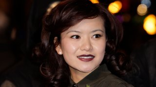 "In this Nov. 11, 2010, file photo, British actress Katie Leung arrives at a cinema in London's Leicester Square for the world premiere of ""Harry Potter and the Deathly Hallows Part 1."""