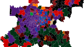 Vivid Seats map of Dallas-Fort Worth's favorite college basketball teams