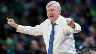 FILE: Texas A&M Aggies head coach Gary Blair calls a play in game action during the Women's NCAA Division I Championship - Third Round game between the Notre Dame Fighting Irish and the Texas A&M Aggies on March 30, 2019 at the Wintrust Arena in Chicago, Illinois.