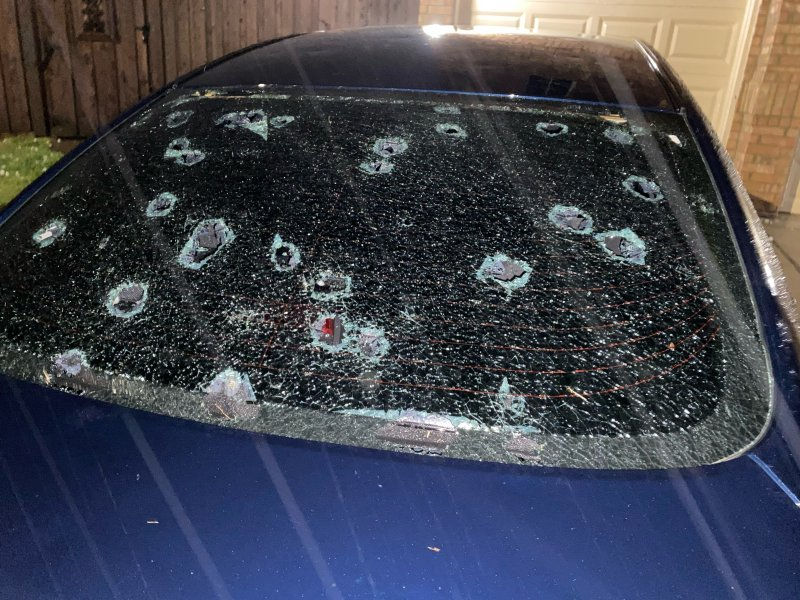 Your Photos of Hail Damage to Cars, Homes: April 28, 2021