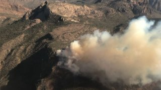 Firefighters continue to battle the 600-acre South Rim Fire in Big Bend National Park that has been burning for at least three days.