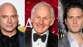 This combination of photos shows actors, from left, Michael Cerveris, Victor Garber and Steven Pasquale