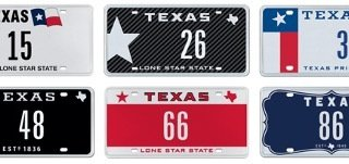 Picture of 2-character license plate