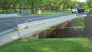 Bedford police arrested a person they say is connecting to an explosion that shut down a bridge on Forest Ridge Drive just north of Bedford Road for several hours. NBC 5 reporter Lili Zheng has the latest.