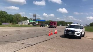 A manhunt is underway for the person who opened fire at a business park in Bryan, Texas, Thursday afternoon, injuring several people.