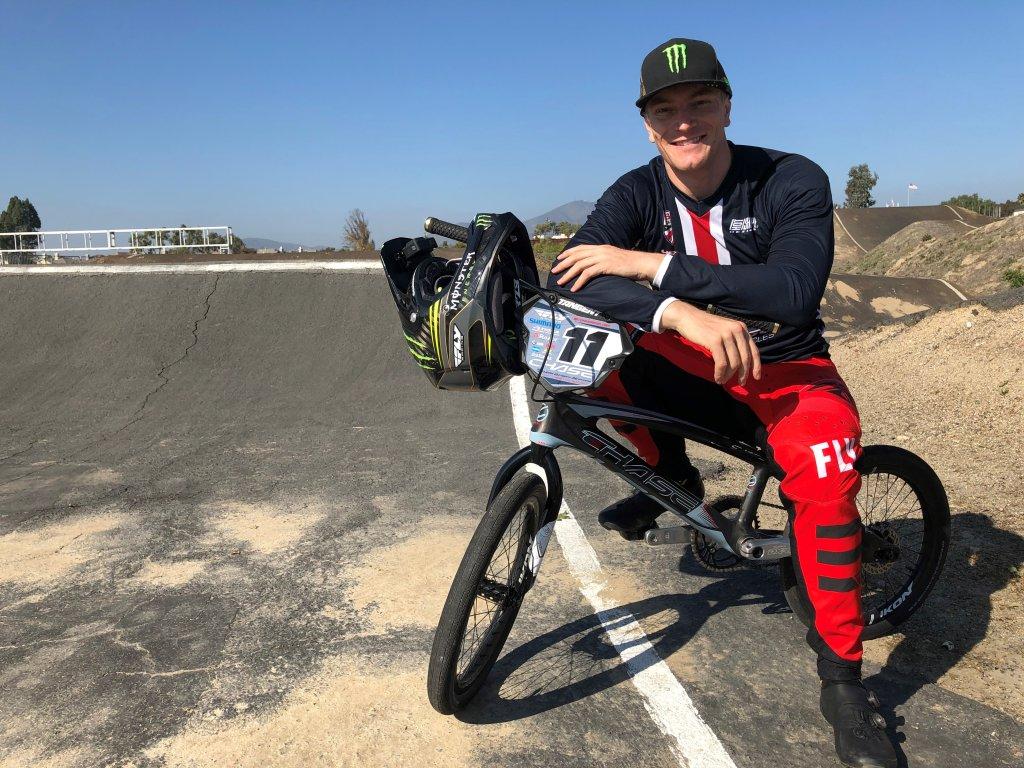 Connor Fields on a BMX bike