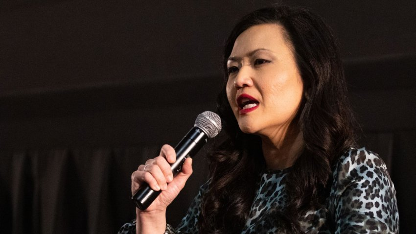 Sery Kim answers questions during a forum for Republican candidates running in the 6th Congressional District of Texas race in Arlington on Wednesday, March 31, 2021.