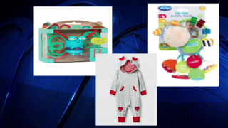 Three separate recalls of products that could all pose a choking hazard for infants have been issued.