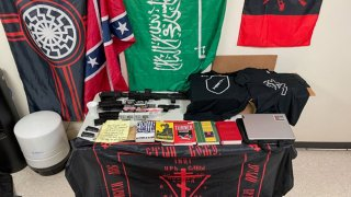 """Authorities in Texas arrested a man accused of plotting to carry out a mass shooting at a Walmart, and a search of the suspect's home turned up firearms, ammunition and materials officials described as """"radical ideology paraphernalia."""""""