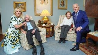 (L-R)Jill Biden, Jimmy Carter, Rosalyn Carter and Joe Biden