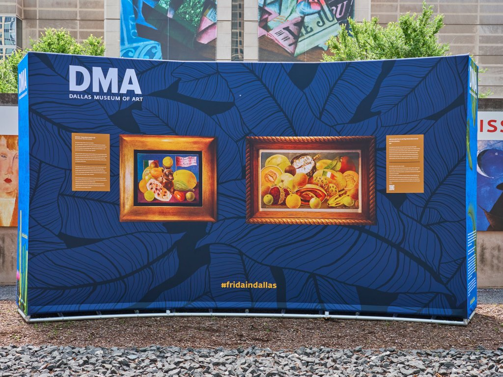 Dallas Museum of Art Frida Kahlo pop-up installation
