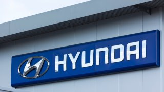 Hyundai sign on wall