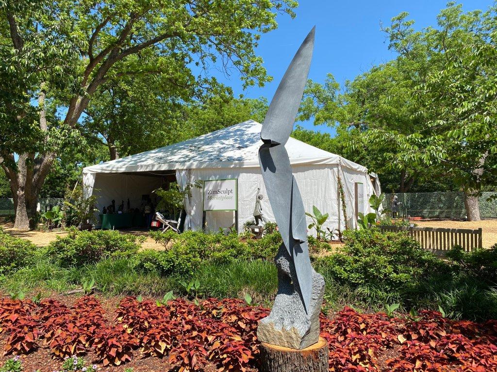 Flying Dallas Arboretum ZimSculpt