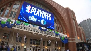 There's excitement with the Dallas Mavericks in the playoffs. At this time last year, many people didn't know when they'd be back inside an arena.