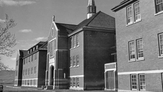 The main administrative building of the Kamloops Indian Residential School in British Columbia in 1970.