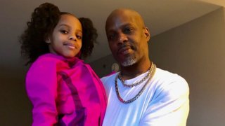 Sonovah Hillman Jr., left, and her father Earl Simmons, known as DMX.