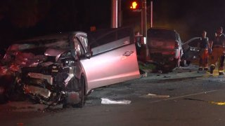 Shortly before 1 a.m., a Kia sedan turned left from East Illinois Avenue onto Kiest Boulevard and crashed into a Chevrolet Trailblazer that was going westbound on Illinois, police said.