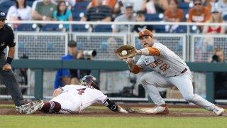 CWS Mississippi St - Texas Baseball