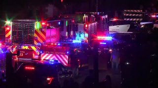 The scene near 6th Street in Austin, Texas where 14 people were shot early Saturday, April 12, 2021. Austin police announced Sunday that one of the victims died from his injuries.